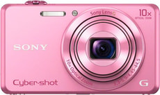 DSC-WX220 Cybershot Appareil photo compact pink
