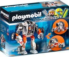 Playmobil Top Agent Chef de la Spy Team avec Robot Mech 9251
