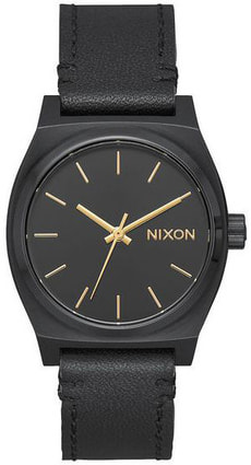 Medium Time Teller Leather All Black 31 mm