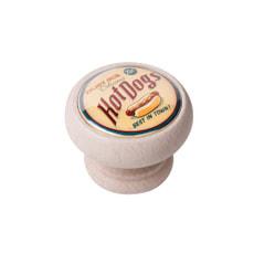 Möbelknopf Hot Dog white washed