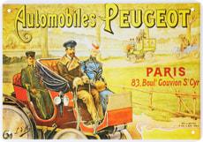 Werbe-Blechschild Peugeot