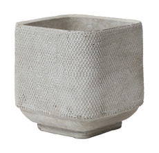 CEMENT SQUARE POT, 14X14X15CM