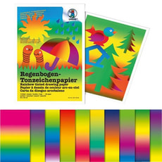 Regenbogen-Tonpapier