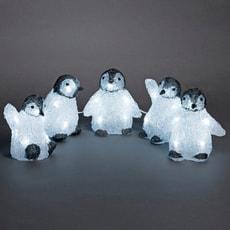 LED Acryl Babypinguine, 5er Set