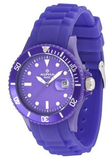 AB FASHION violett Armbanduhr