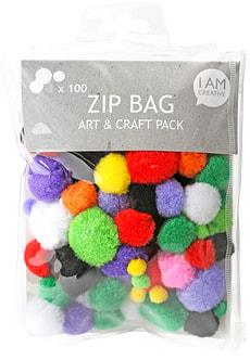Pompon Set, Zip