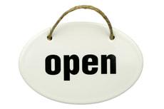Panneau en émail Open/Closed