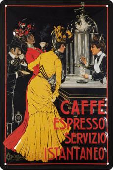 Werbe-Blechschild Café Espresso