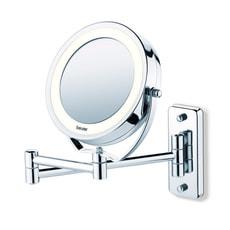 Miroir cosmétique éclairé 2 en 1 BS59 argent