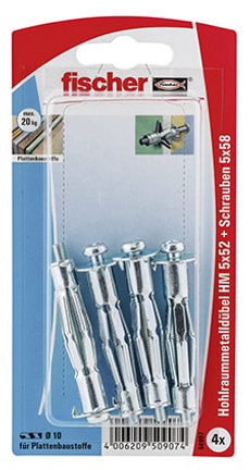 Tassello per piastra HM 6 x 52 con vite