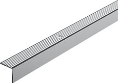 Treppen-Profil, schmal, gerillt, gelocht