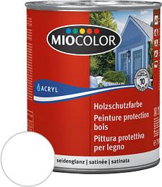 Pittura protettiva per legno Bianco 750 ml