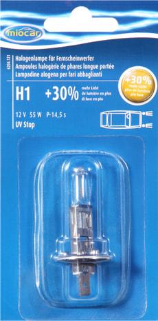Ampoule halogène H1 +30%
