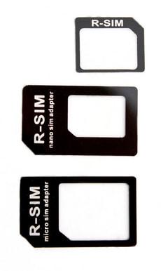 Nano+Micro SIM Adapter schwarz