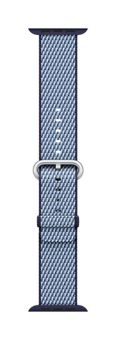 38mm Midnight Blue Check Woven Nylon