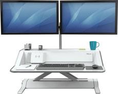 Lotus DX Sitz-Steh Workstation weiss
