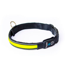 Tractive LED Dog Collar, small, gelb