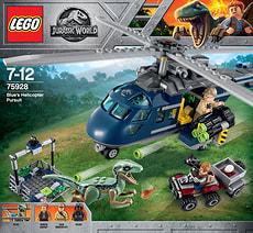 Lego Jurassic World Blue's Hubschrauber-Verfolgungsjagd 75928