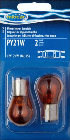 Ampoule PY21W, ambre, feu clignotant