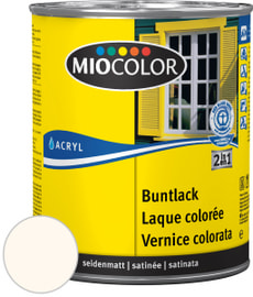 Acryl Buntlack seidenmatt Cremeweiss 375 ml