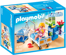 PLAYMOBIL City Life Nursery con mamma e neonato 6660