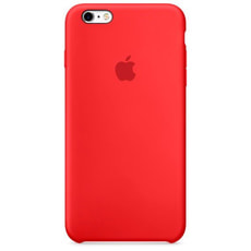 Silicone Case iPhone 6s Plus rot