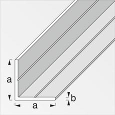 Winkel-Profil gleichschenklig 2.4 x 35.5 mm PVC ws 1 m