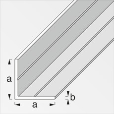 Cornière isocèle 2.4 x 35.5 mm PVC blanc 1 m