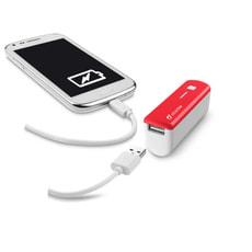 Portables USB Ladegerät rot