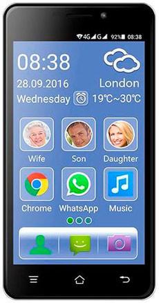 Senior Smartphone Dual SIM 8GB schwarz