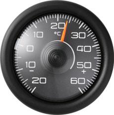 Thermometer selbstklebend rund