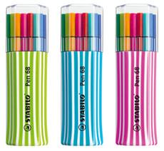 Feutre Premium STABILO® Pen 68, 15 pièces