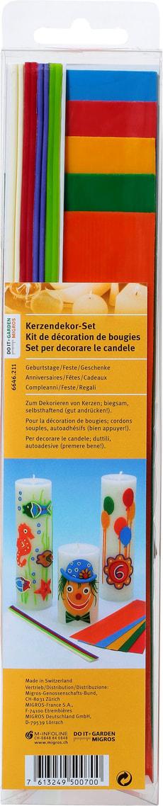 Kerzendekor Set, Geburtstage Fest Gesch.