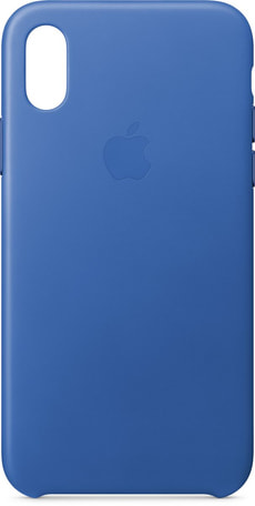 Leather Case iPhone X Electric Blue