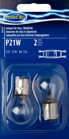 Ampoule P21W, feu de stop/clignotant