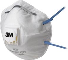 Atemschutzmaske für Elektrowerkzeugarbeiten, mit Ventil, 3 Stück