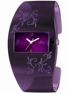 L- s.Oliver LIFESTYLE violett Armbanduhr