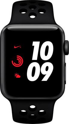 Watch Nike+ Series 3 GPS 38mm Space Grey Aluminium Case Anthracite Black Nike Sport Band