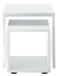 DUO TABLE BASSE DEUX CORPS BLANC
