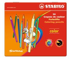 STABILO® color boite métal 24 crayons de couleur