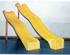 Wellen-Kunststoffrutsche gelb