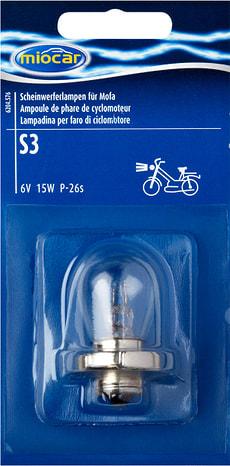 Ampoule S3, Phare cyclomoteur