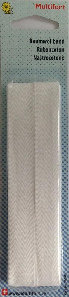 Ruban cotton blanc 16mm x 2.7m