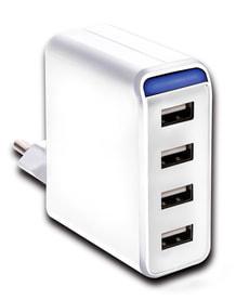 Compressore USB 4-volta 4.8A AC con LED bianco