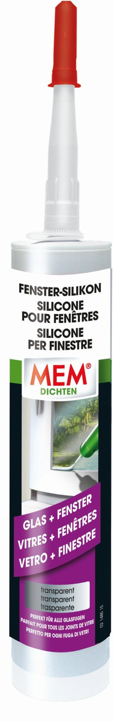 Fenster-Silikon transparent, 300 ml