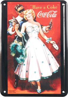 Werbe-Blechschild Coca Cola Have a Coke