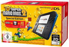 2DS Black inkl. New Super Mario Bros. 2