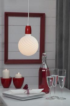 Lampenzuleitung Rot/Weiss