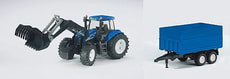 W9 BRUDER NEW HOLLAND TRAKTOR / ANHÄNGER