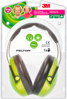 Casque antibruit Peltor Kid vert